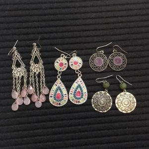 4 pice earring set